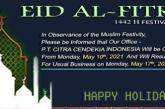 Happy Holiday – Eid Al-Fitr 1442h